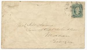 CSA Scott #12a Tied to Cover by Black Quincy, FL CDS Aug 12 Cobb Correspondence