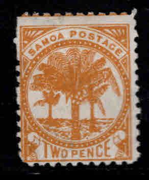 Samoa Scott 13f MH*  perf 11 wmk 62 Star NZ wide apart ...orange yellow