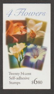 U.S. Scott #3490b-3490c-3490d BK284 Flower Stamp - Mint NH Booklet