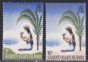 Gilbert & Ellice Islands # 157-158, Polynesian Madonna, NH, 1/2 Cat.