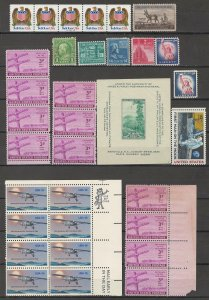 COLLECTION LOT # 3809 UNITED STATES 33 STAMPS MNH/MH 1937+ FACE VALUE=$3.46