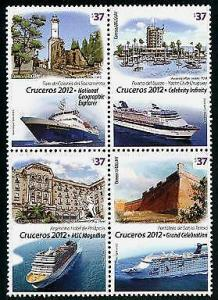 HERRICKSTAMP URUGUAY Sc.# 2392 Cruise Ships 2012 Block
