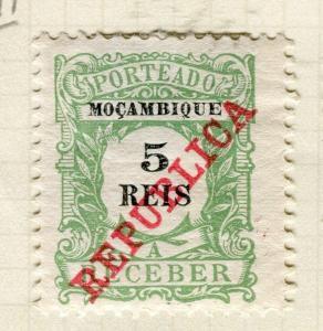 PORTUGUESE MOZAMBIQUE; 1911 REPUBLICA Postage Due Mint hinged 5r. value