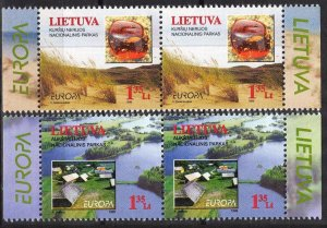 Lithuania 1994 Europa CEPT National Parks 2 pairs MNH