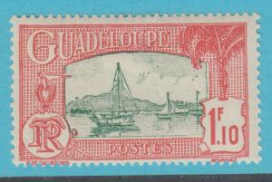 GUADELOUPE 123 MINT HINGED OG *   NO FAULTS  VERY FINE !