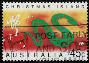 Christmas Island 2001 Year of the Snake used