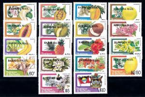 [62736] Barbuda 1983 Flora Flowers Blumen Fruit Overprint Barbuda Mail MNH