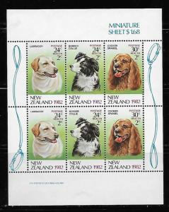 New Zealand MH S/S B114a Dogs Health 1982