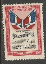 Dominican Republic C57 MOG FLAGS MUSIC R6-132-1