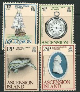 ASCENSION SG242/5 1979 CAPTAIN COOKS VOYAGE MNH