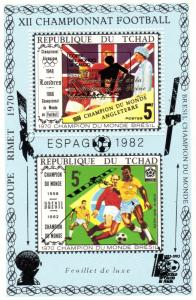 Chad 1989  World Cup Italy 1990/Intelsat 5 Satellite SS Perforated MNH