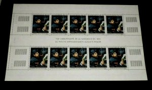 MONACO #1783, 1991, PAINTINGS, ART, RENOIR, GUTTER SHEET/10, MNH, NICE LOOK