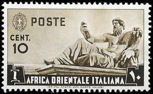 1938 ITALIAN EAST AFRICA  SC# 4  - SUP UNUSED LH CV 2.50