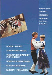 Nordic Costumes of  Sweden, Denmark, Finland, Iceland, Norway in folio F-VF