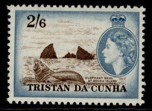 TRISTAN DA CUNHA QEII SG25, 2s 6d deep brown & light blue, LH MINT. Cat £17.