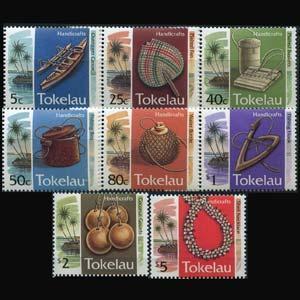 TOKELAU 1995 - Scott# 195-202 Handicrafts Set of 8 NH