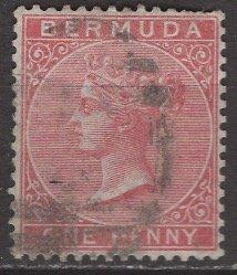 Bermuda; 1865: Sc. # 1: O/Used Single Stamp