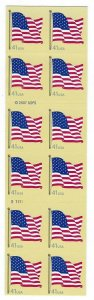 U.S. #4191a FLAG  BOOKLET PANE MINT, NH AT FACE VALUE!
