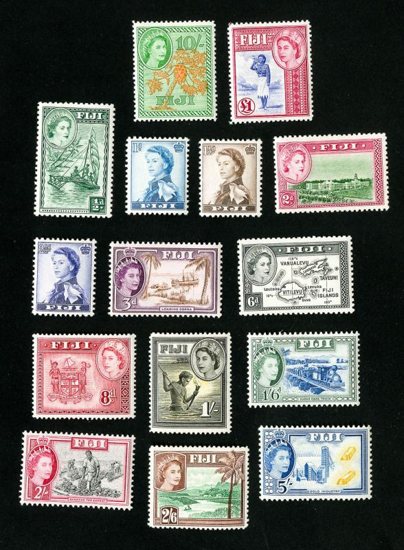 Fiji Stamps # 147-62 VF OG VLH Set of 16 Scott Value $119.10