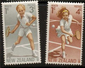 NEW ZEALAND SG987/8 1972 HEALTH STAMPS (TENNIS) MNH
