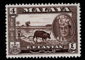 MALAYA Kelantan Scott 86 MH* Sultan Yahya Petra stamp