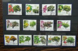Barbados 2005 Flowering Trees values to $10 used