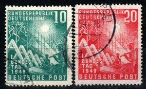Germany #665-6  F-VF Used  CV $34.00 (X9465)
