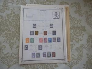 BULGARIA FANTASTIC OLD COLLECTION 1881-1896 ON PAGES DR SCHULTZ ESTATE !!8833B