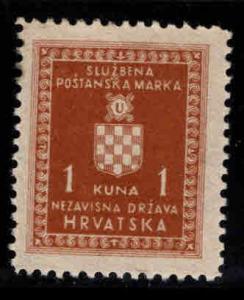 Croatia Scottt o4 Official stamp MH*