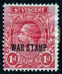 St. Vincent #MR2 War Stamp, unused. SF