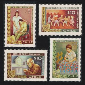 Chile Fourth Anniversary of Government Junta Welfare Facilities 4v SG#793-796