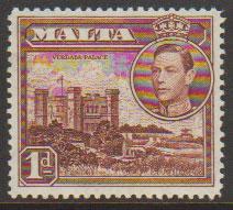 Malta SG 219 - George VI  Lightly Mounted Mint