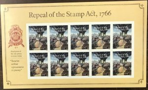 5064   Repeal of Stamp Act, 1766   MNH Forever sheet of 10    FV $5.50   In 2016