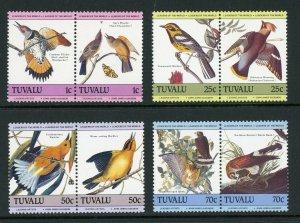 Tuvalu MNH 279-82 Pairs Audubon Birds