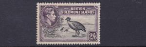 BRITISH  SOLOMAN  1939      S G  70  2/6  BLACK  &  VIOLET  MH TONED GUM