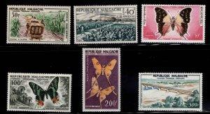 Madagascar Scott C61-C66 MH* Airmail stamp set