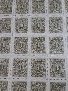 1899 El Salvador - Postage due stamp 3 cent full sheet