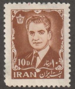 Persia Stamp, Scott# 1210, mint/hinged, 10d, chestnut color, #L-174