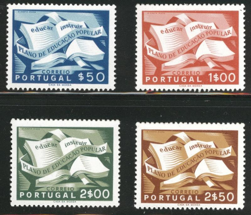PORTUGAL Scott 794-797 National Literacy Book Set CV $64 MNH*