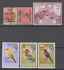 COLLECTION LOT OF # 925 BECHUANALAND 6 STAMPS 1889+