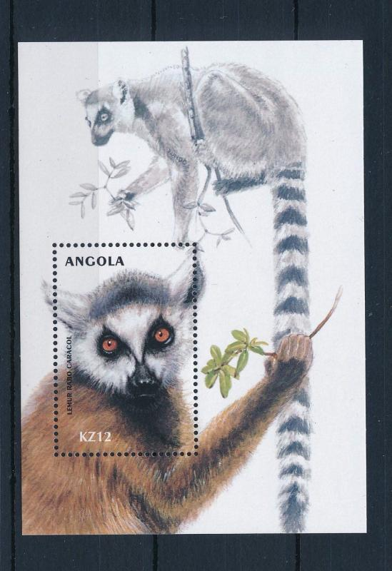 [31187] Angola 2000 Wild animals Mammals Lemur MNH Sheet