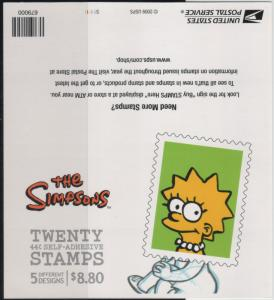 4403b 44c The Simpsons Lisa Back MNH