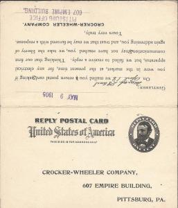 MR5-5 var, Impression on Reply Card , Used (UY3 var), Pos...