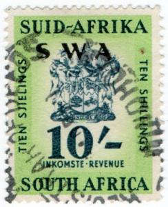 (I.B) South-West Africa Revenue : Duty Stamp 10/-