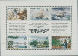 Pitcairn Islands 1989 SG335a Bounty sheetlet MNH