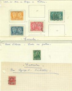 CANADA  LOT (E) OF  MINT HINGED & USED STAMPS AS SHOWN