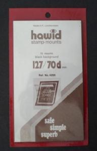 Hawid Stamp Mounts Size 127 / 70 BLACK Pack of 10