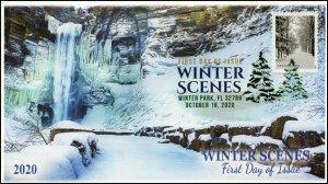 20-248, 2020, Winter Scenes, FDC, Digital Color Postmark, Snowy Path