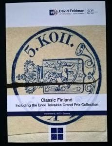 Auction catalogue CLASSIC FINLAND Erkki Toivakka Stamps Covers Postal History