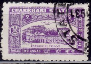 India Charkhari, 1931, Industrial School, 2a, sc#30, used